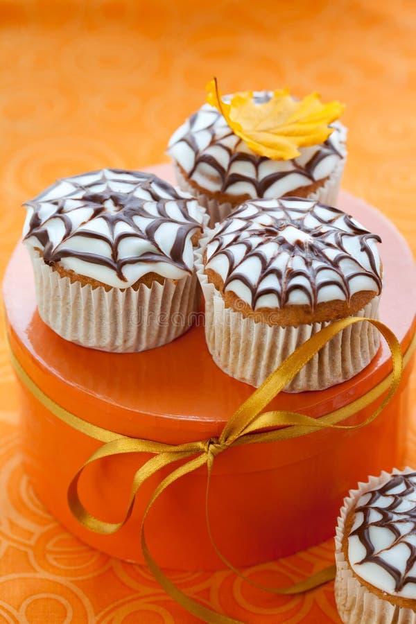 杯形蛋糕万圣节 免版税图库摄影