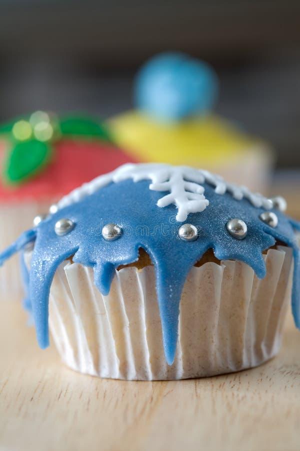 杯形蛋糕冬天 免版税库存图片