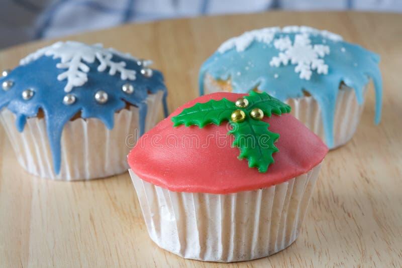 杯形蛋糕冬天 库存图片