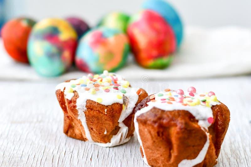 杯形蛋糕复活节 免版税图库摄影
