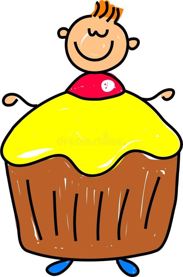杯形蛋糕孩子 向量例证