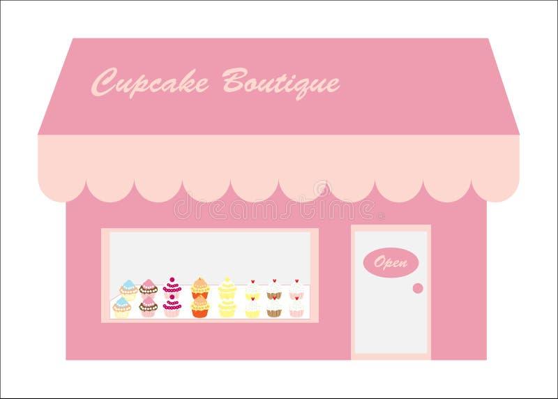 杯形蛋糕徽标界面存储 向量例证