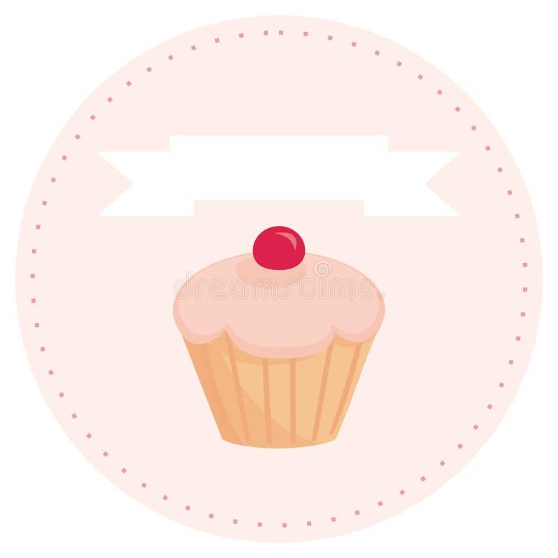 杯形蛋糕拥有您安排减速火箭的甜的&# 库存例证