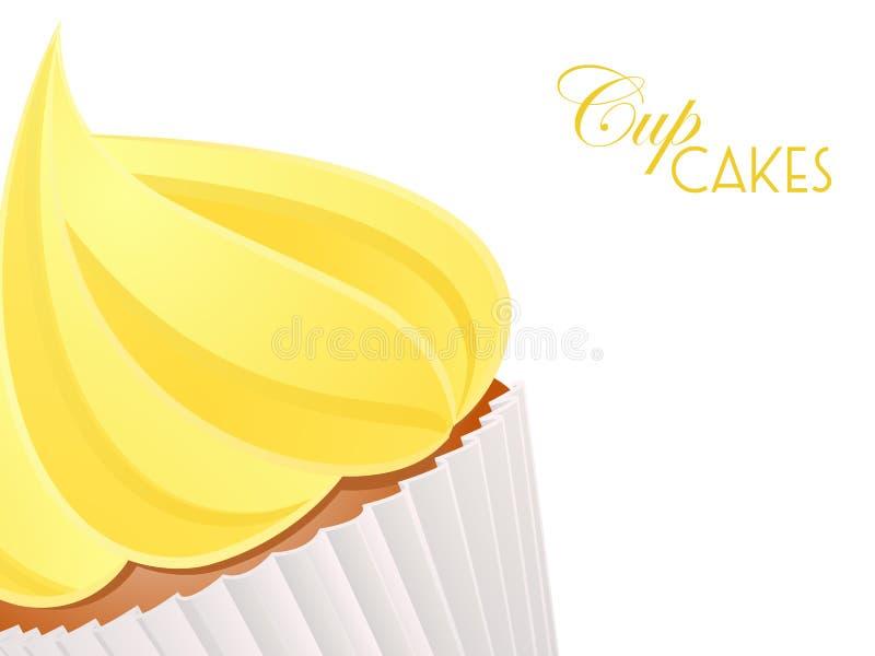 杯形蛋糕接近的background3 皇族释放例证