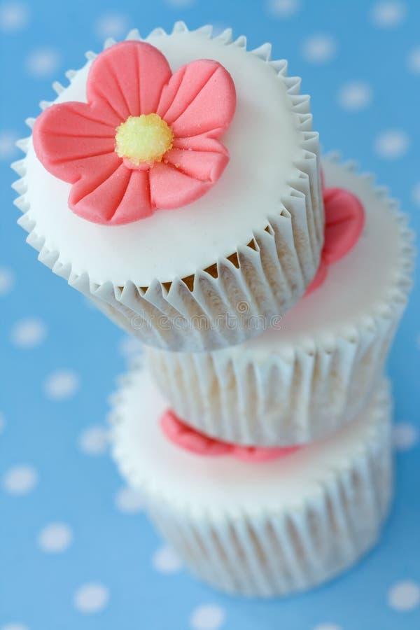 杯形蛋糕栈 库存图片