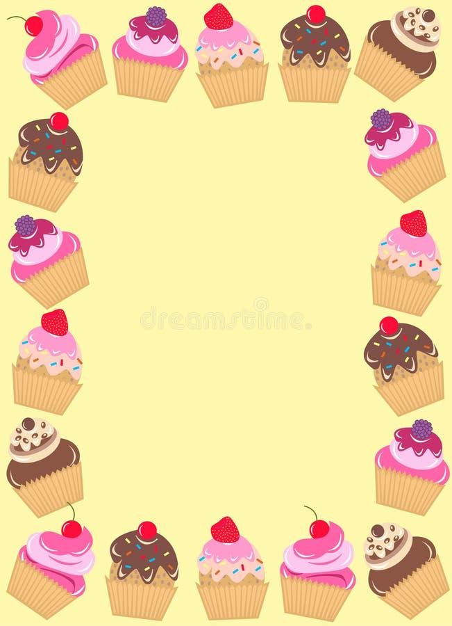 杯形蛋糕框架 向量例证