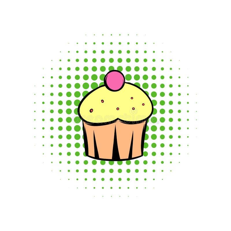 杯形蛋糕漫画象 库存例证