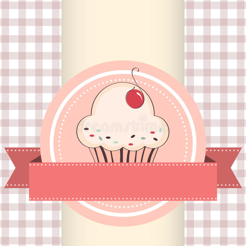 杯形蛋糕的传染媒介例证 库存例证