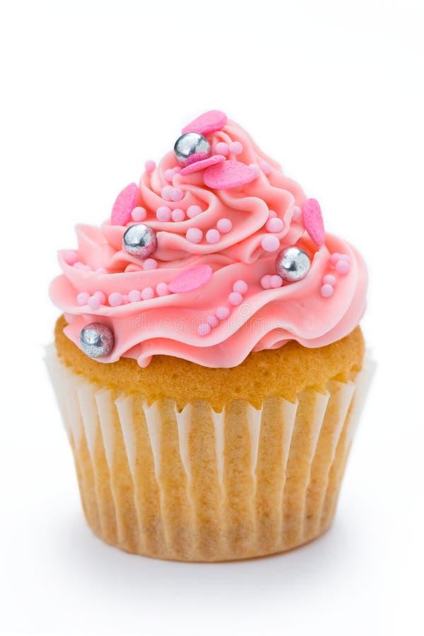 杯形蛋糕粉红色 免版税库存照片