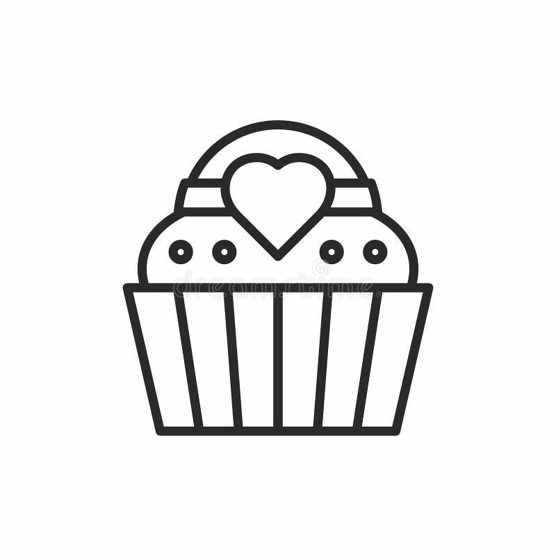 杯形蛋糕象 库存例证