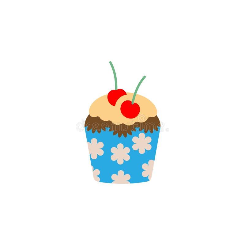 杯形蛋糕,松饼象 颜色国际食物象的元素 r r 库存例证