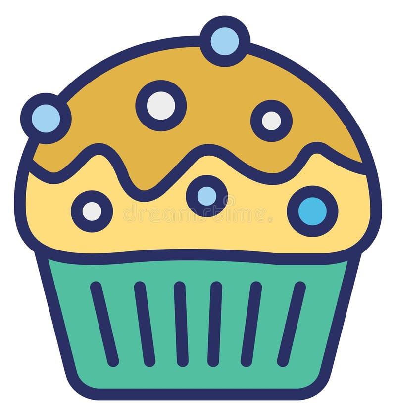 杯形蛋糕,点心隔绝了可能容易地修改或编辑的传染媒介象 皇族释放例证