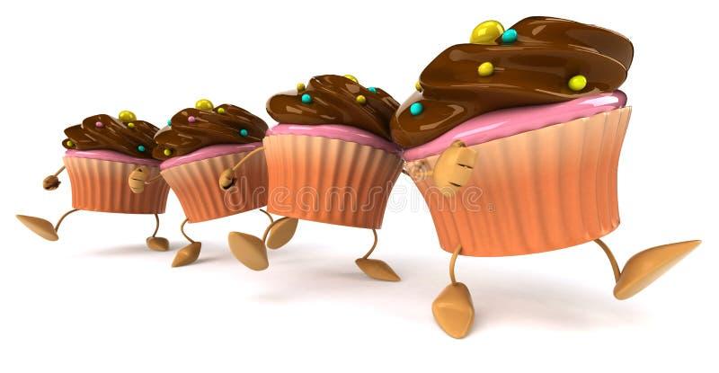 杯形蛋糕 皇族释放例证