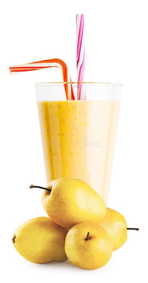 杯梨圆滑的人或酸奶用梨 库存照片