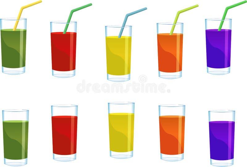 杯汁液 向量例证