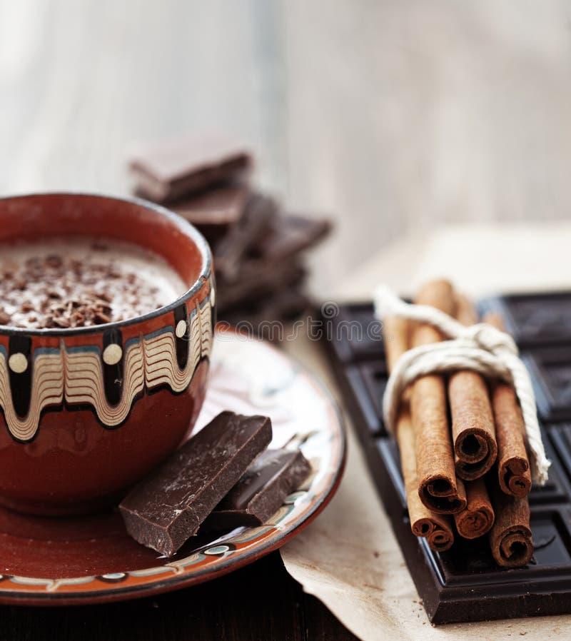 可可粉和巧克力 库存照片