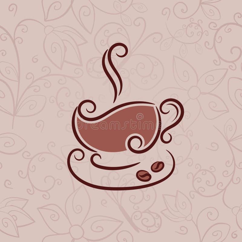 杯热的咖啡 向量例证