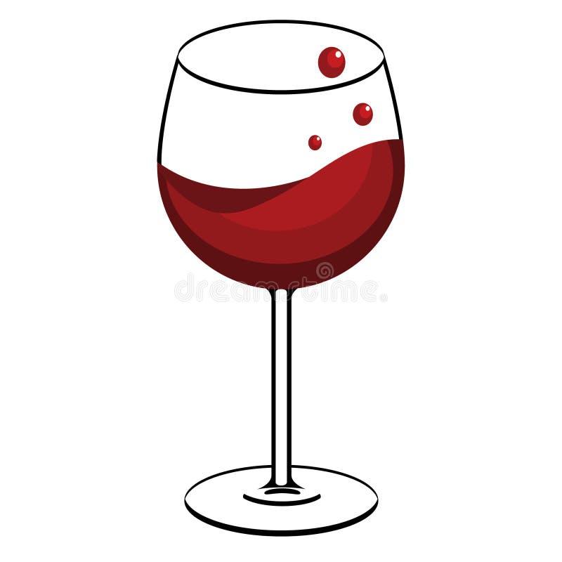 杯红葡萄酒 向量例证