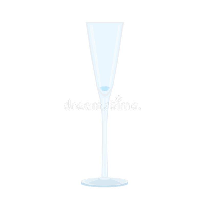 杯香槟和水晶玻璃啤酒精神酒 库存例证