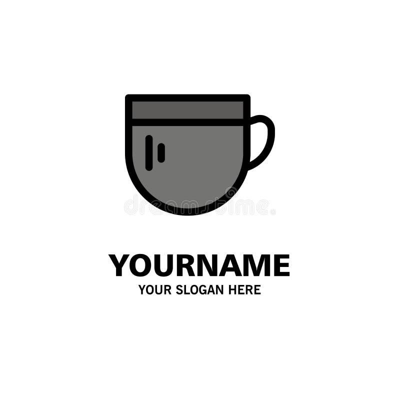 杯,茶,咖啡,基本的企业商标模板 o 向量例证