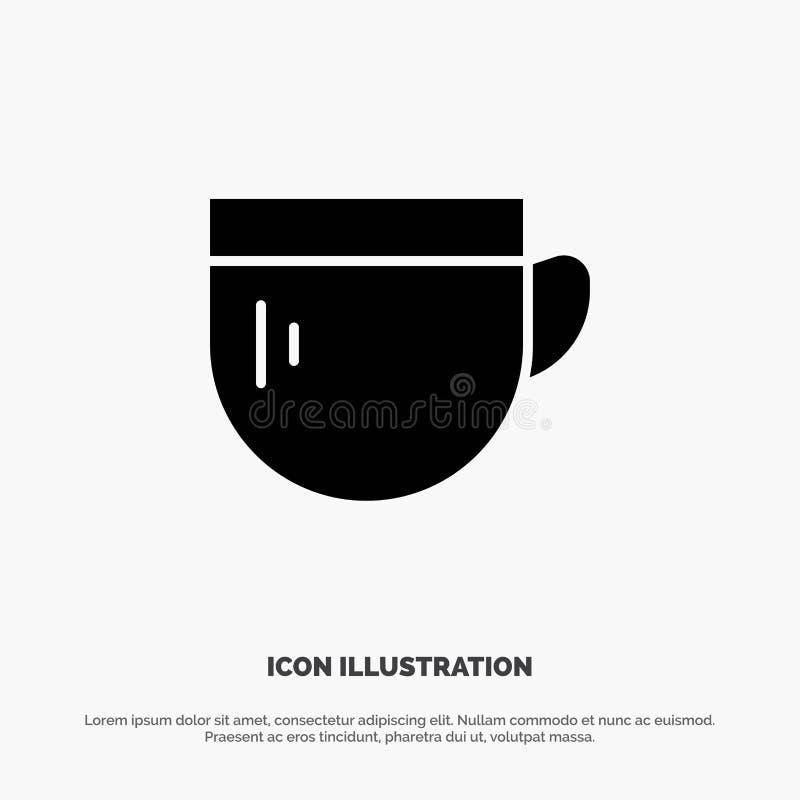 杯,茶,咖啡,基本的坚实纵的沟纹象传染媒介 皇族释放例证