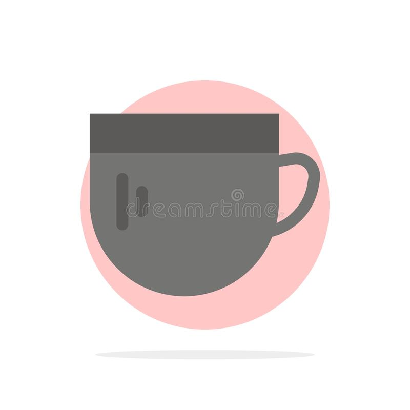杯,茶,咖啡,基本的抽象圈子背景平的颜色象 皇族释放例证