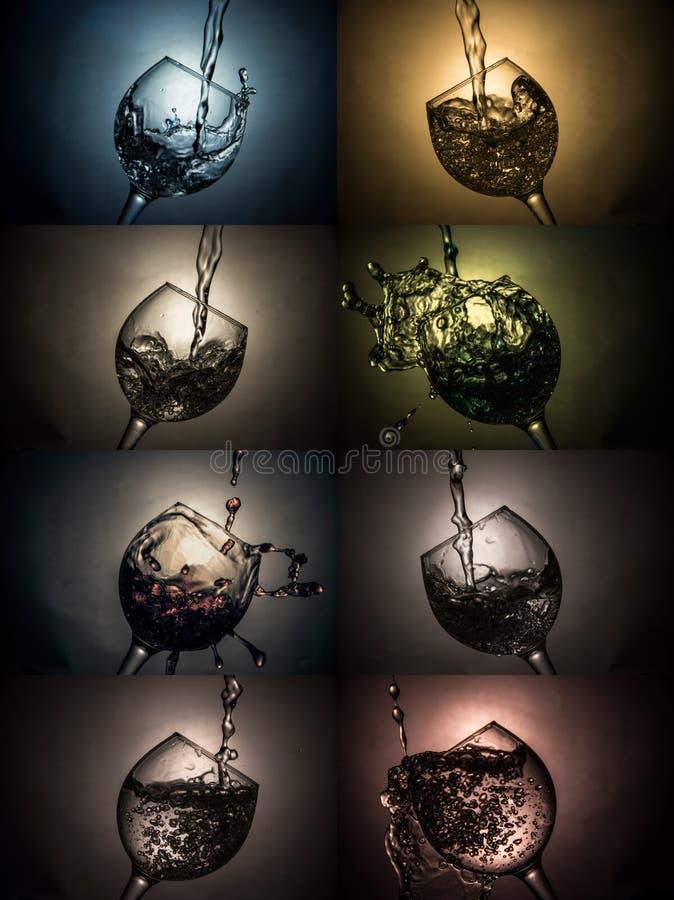 杯水或酒 免版税库存图片