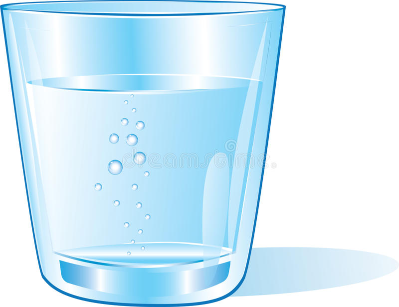 杯水 向量例证