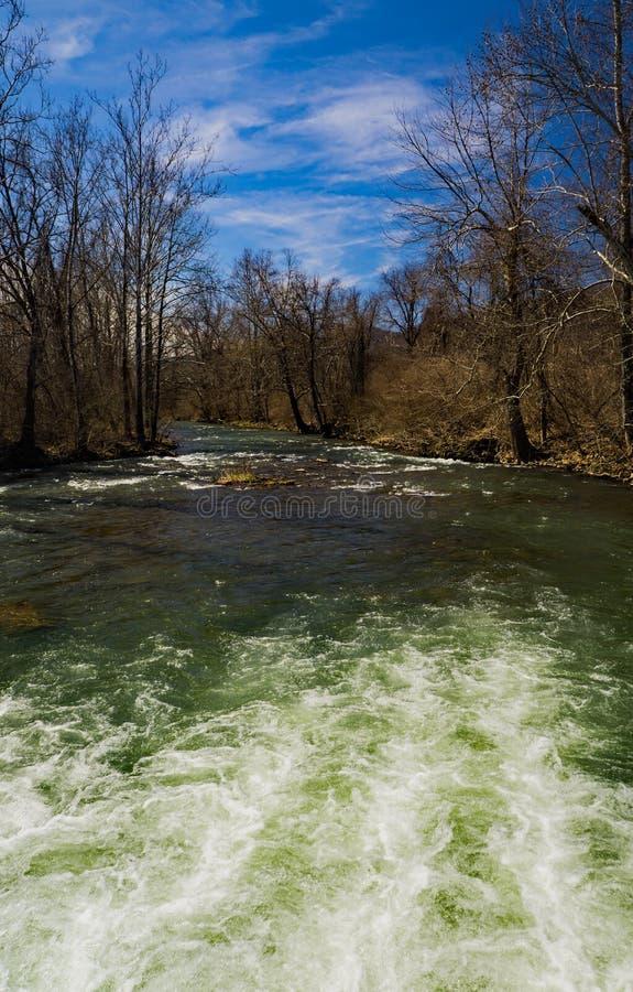 杰克逊河–巴斯县,弗吉尼亚,美国 图库摄影