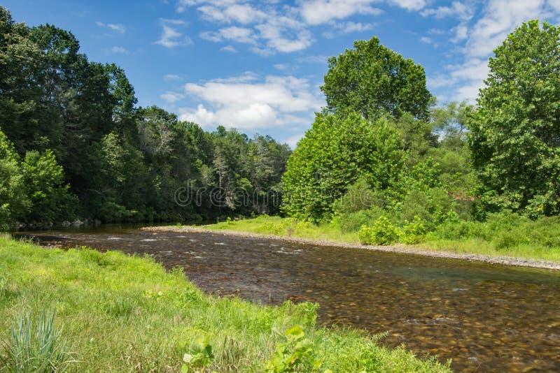 杰克逊河,弗吉尼亚,美国 图库摄影