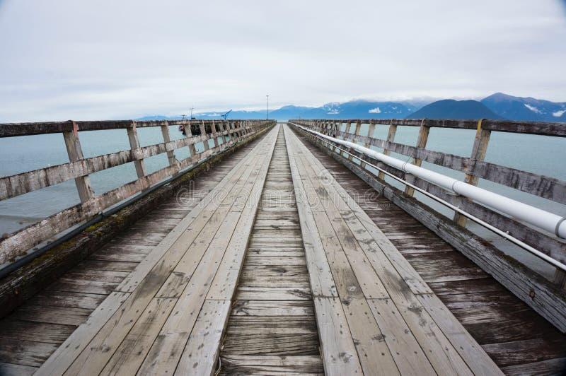 杰克逊海湾,新西兰港口  免版税库存图片