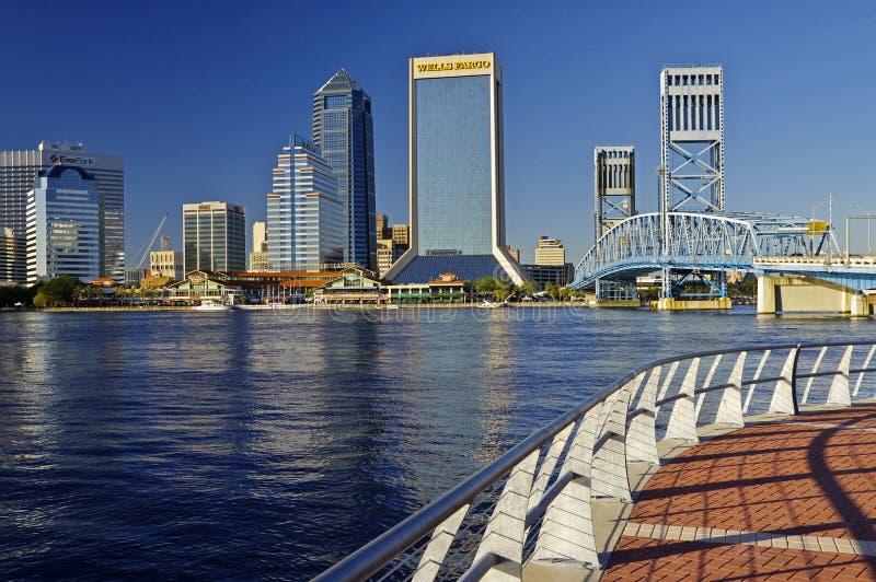 杰克逊维尔风景街市在佛罗里达,美国 免版税库存图片