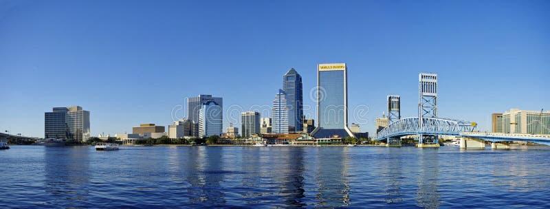 杰克逊维尔风景街市在佛罗里达,美国 免版税库存照片