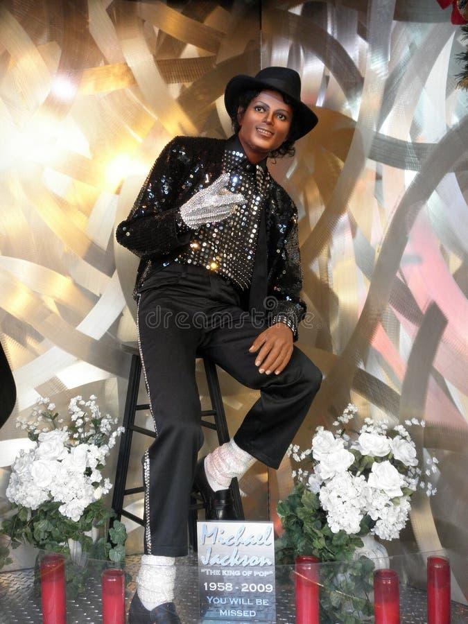 杰克逊迈克尔雕象蜡 免版税库存照片