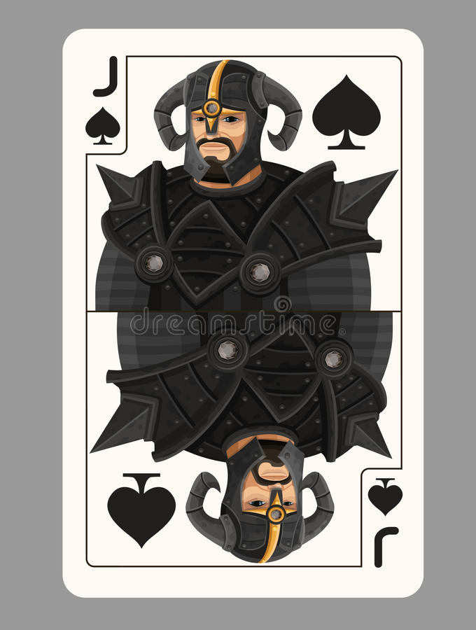 杰克锹纸牌 库存例证
