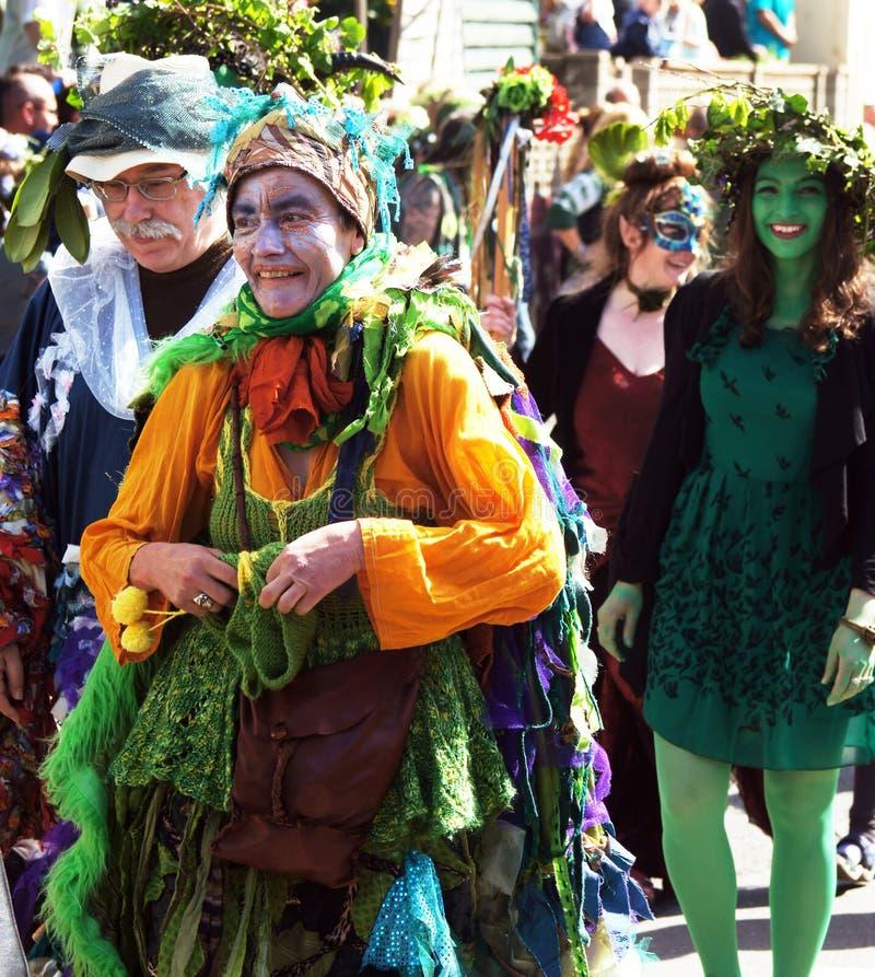 杰克绿色节日在海斯廷斯,英国 库存照片