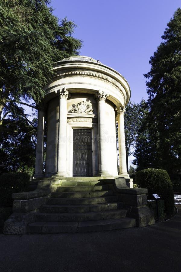 杰夫森纪念品-杰夫森庭院,皇家Leamington温泉,沃里克郡,英国 库存照片