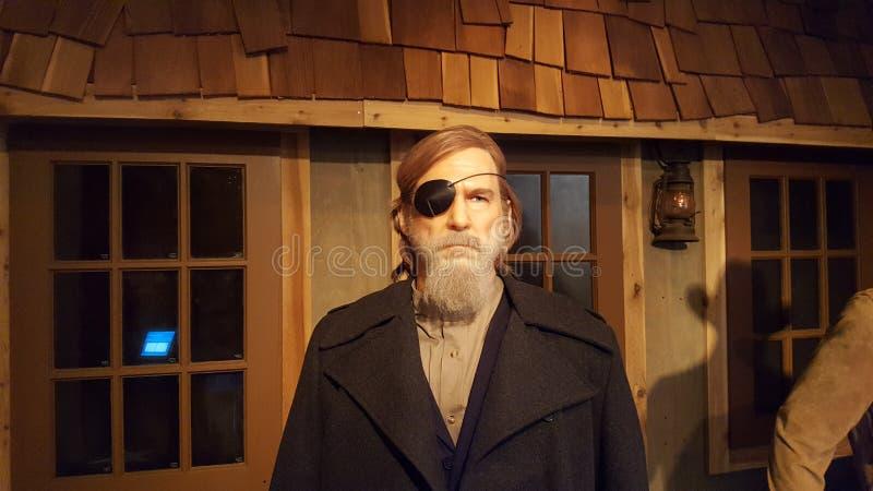 杰夫・布里吉真实的沙粒蜡雕象 库存照片