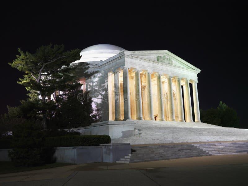 杰斐逊纪念品晚上 免版税库存图片