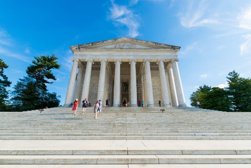 杰斐逊纪念品的新闻纪录片的图象在Colum区  库存图片