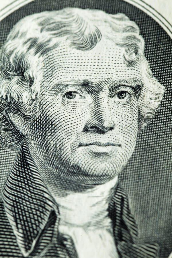杰斐逊纵向托马斯总统 免版税库存图片