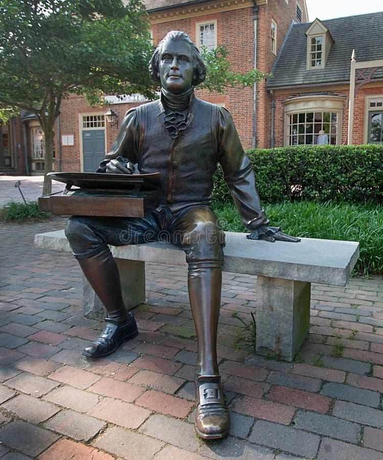 杰斐逊雕象托马斯 免版税库存图片