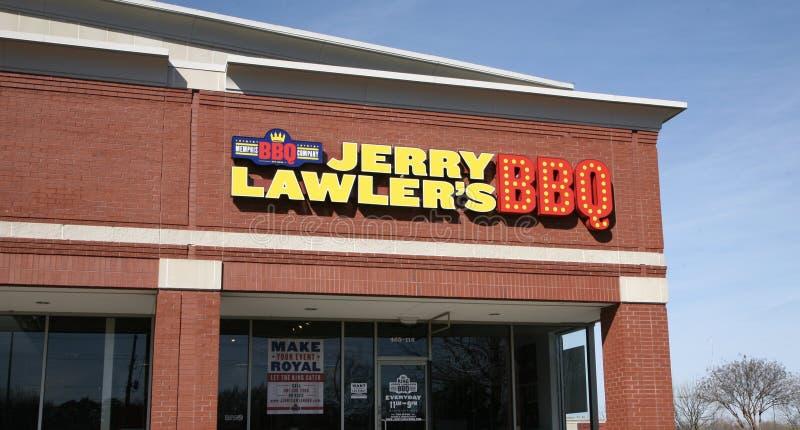杰瑞Lawler ` s烧烤店 免版税库存图片