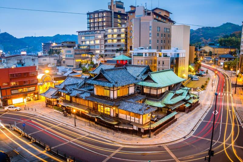 松山,日本地平线 库存照片