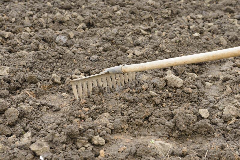 松懈与犁耙的土壤 免版税库存图片