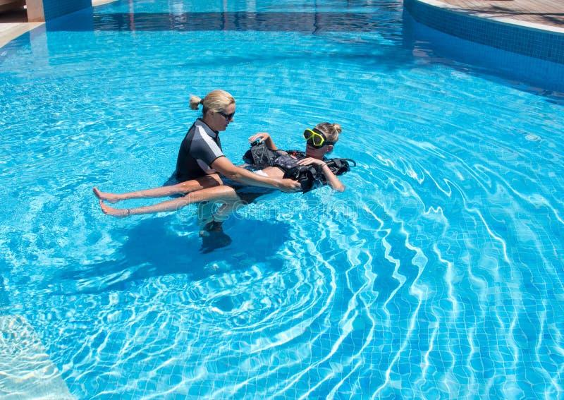 轻松的轻潜水员 免版税库存图片