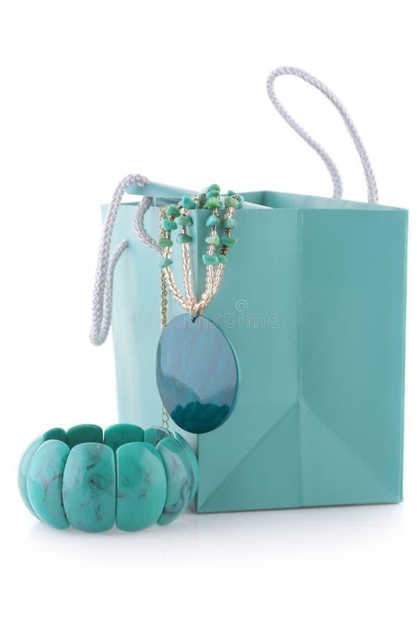 绿松石珠宝 免版税库存图片