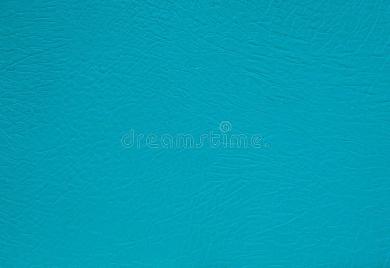 绿松石皮革纹理背景表面 免版税库存图片
