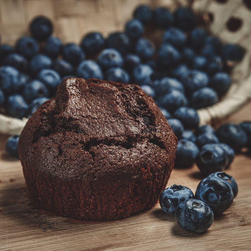 松饼和蓝莓 库存照片