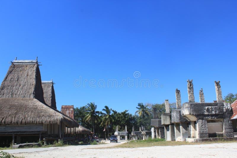 松巴岛传统村庄 库存图片